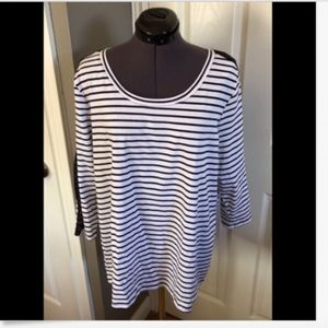 NWT Lane Bryant Striped Knit Top - 14/16
